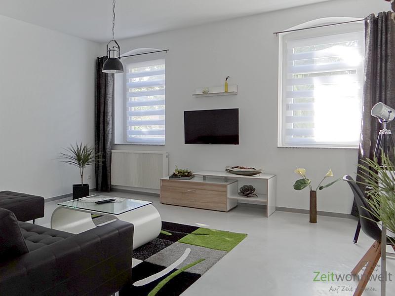 Gotha, TOP! neu möbliertes Apartment mit Terrasse in Stadtvilla nahe Schloßpark und Orangerie, Full-